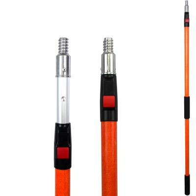 Fiberglass/aluminum Telescopic pole with spring button lock